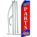 Auto Parts Red Swooper Flag Bundle