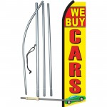 We Buy Cars Yellow Swooper Flag Bundle