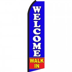 Welcome Walk In Swooper Flag