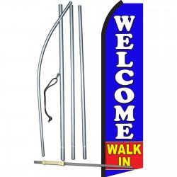 Welcome Walk In Swooper Flag Bundle