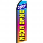 Quality Used Cars Blue Orange Swooper Flag