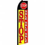 Stop Sale Sale Sale Swooper Flag