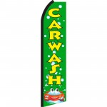 Car Wash Green Bubbles Swooper Flag