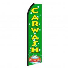 Car Wash Green Bubbles Swooper Flag