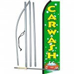 Car Wash Green Bubbles Swooper Flag Bundle