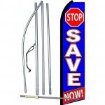 Stop Save Now Swooper Flag Bundle