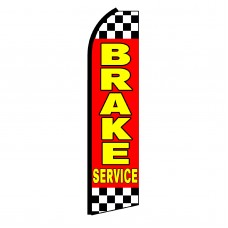 Brake Service Red Swooper Flag