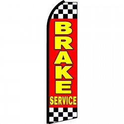 Brake Service Red Swooper Flag