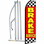 Brake Service Red Swooper Flag Bundle