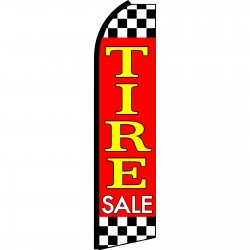 Tire Sale Red Extra Wide Swooper Flag