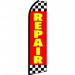 Repair Checkred Red & Yellow Swooper Flag