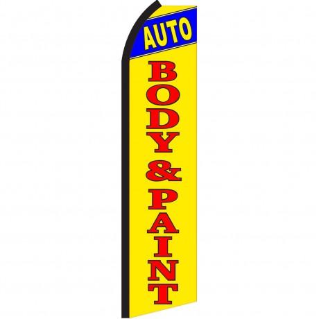 Auto Body & Paint Yellow Swooper Flag