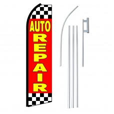 Auto Repair Red & Yellow Swooper Flag Bundle
