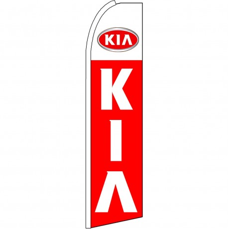 Kia Extra Wide Red Swooper Flag