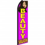 Beauty Salon Purple Swooper Flag