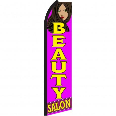 Beauty Salon Purple Swooper Flag
