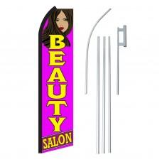 Beauty Salon Purple Swooper Flag Bundle