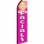 Facials Pink & White Swooper Flag