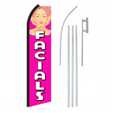 Facials Pink & White Swooper Flag Bundle