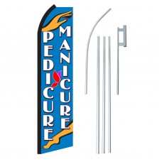 Pedicure/Manicure Swooper Flag Bundle