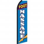Foot Massage Blue & White Swooper Flag