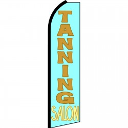 Tanning Salon Blue Swooper Flag