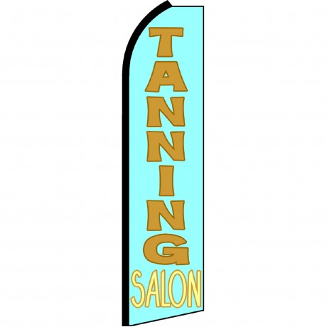 Tanning Salon Blue Swooper Flag