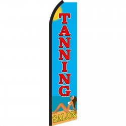 Tanning Salon Beach Swooper Flag