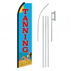 Tanning Salon Beach Swooper Flag Bundle