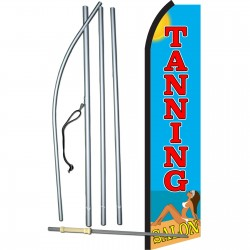 Tanning Salon Beach Swooper Flag Bundle
