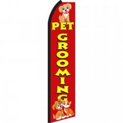Pet Grooming Red Swooper Flag