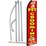 Pet Grooming Red Swooper Flag Bundle