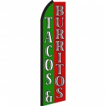 Tacos & Burritos Green & Red Swooper Flag