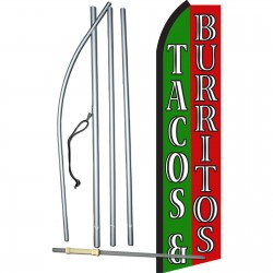 Tacos & Burritos Green & Red Swooper Flag Bundle