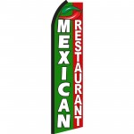 Mexican Restaurant Swooper Flag
