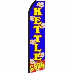 Kettle Corn Blue Swooper Flag