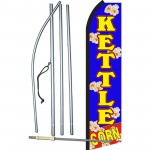 Kettle Corn Blue Swooper Flag Bundle