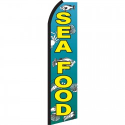 Seafood with Fish Swooper Flag
