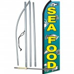 Seafood with Fish Swooper Flag Bundle