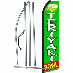 Teriyaki Bowl Swooper Flag Bundle