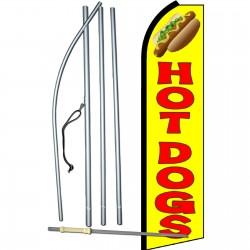 Hot Dogs Yellow Swooper Flag Bundle