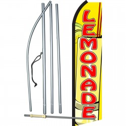 Lemonade Yellow & Red Swooper Flag Bundle