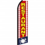 Restaurant Red & Yellow Swooper Flag