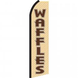 Waffles Tan & Brown Swooper Flag