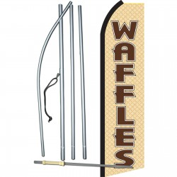 Waffles Tan & Brown Swooper Flag Bundle