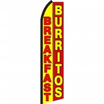 Breakfast Burritos Yellow Red Swooper Flag