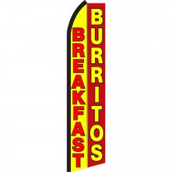 Breakfast Burritos Yellow Red Swooper Flag