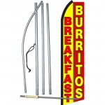 Breakfast Burritos Yellow Red Swooper Flag Bundle