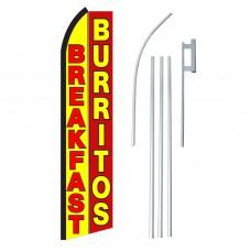 Breakfast Burritos Yellow Red Swooper Flag Bundle