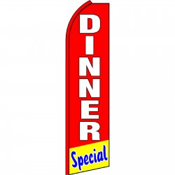 Dinner Special Red Swooper Flag